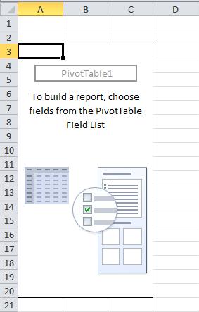 Autoajustar columnas en tablas dinámicas Tabla dinámica vacía