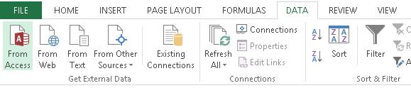 Botón para importar datos de access a Excel