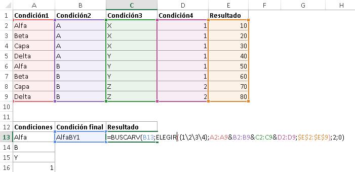 buscarv con varias condiciones 2