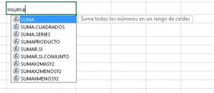 escribir fórmulas en excel aprender excel básico