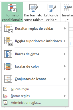 3 modificar formato condicional
