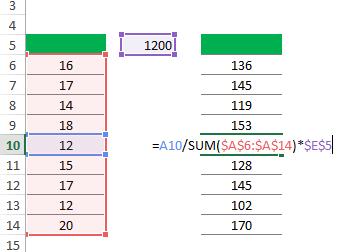 crear números aleatorios que sumen 100% en Excel